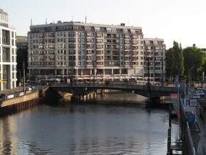 ponton-Weidendammer Brücke von Westen aus gesehen