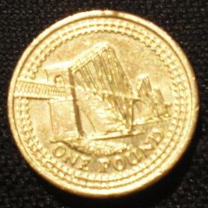 1 Pfund mit der Firth-Eisenabhnbrücke