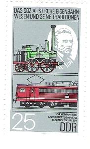 DDR Briefmarke mit dem Erbauer J.A. Schubert