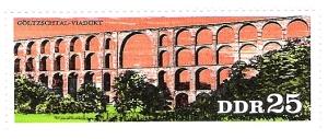 DDR-Briefmarke mit Göltzschtalbrücke