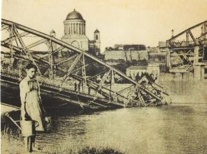Ursprüngliche Stahlbrücke 1919