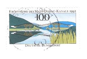 Briefmarke zur Einweihing des Rhein-Main-Donau-Kanales