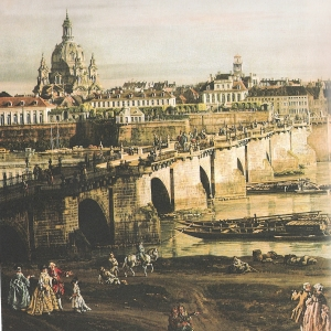 Dresden´s Augustusbrücke 1724
