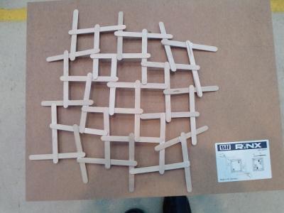 Quadratische Gundform für Leonardokuppel
