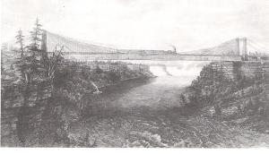Röblings Brücke über den Niagara River (1855)