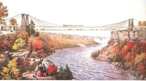 1 Historische Brücke über den Niagara Fluss,