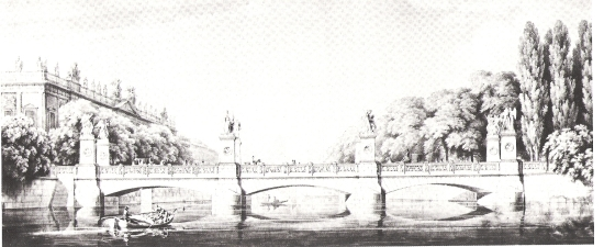 Entwurf für die Schlossbrücke, Seitenansicht [1].