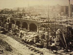 Viadukte im Bau vor 1882