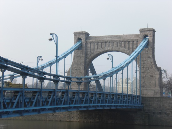 Portal der Grunewalsdki Brücke vomrechten Oderufer aus gesehen