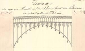 Eiserne Brücke zwischen den Türmen des Schlosses