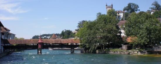 Spreuerbrücke flussaufwärts geschaut