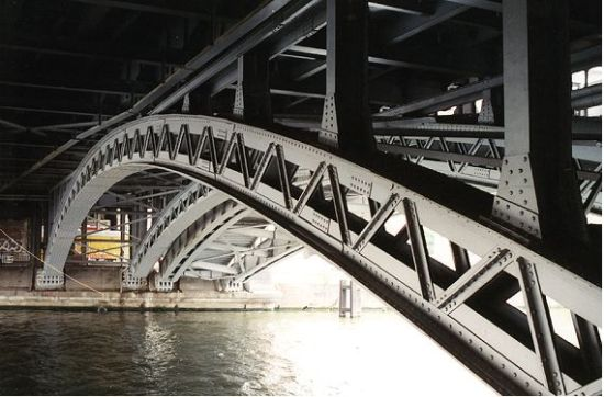 Spreebrücke vor dem Umbau 1996