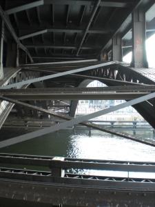 Fachwerkbogenbrücke, Bogenebene