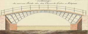 Entwurf für eine Brücke über den berwerksgraben über den Fluss Malapane, gez. von J.G. Gärtner, 1807