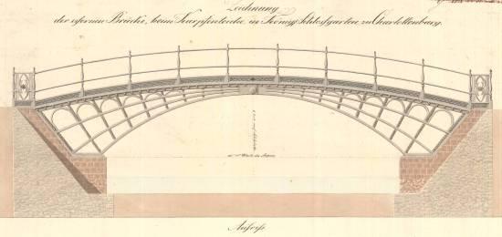 Aufriss der Charlottenburger Schlossbrücke