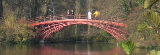 Hohe Brücke im Sclosspark Charlottenburg (1802)