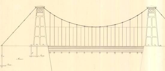Projekt für eine Kettenbrücke, 20 Fuß weit, Kopie von 1822