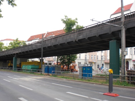 U2 Strecke in Richtung Pankow