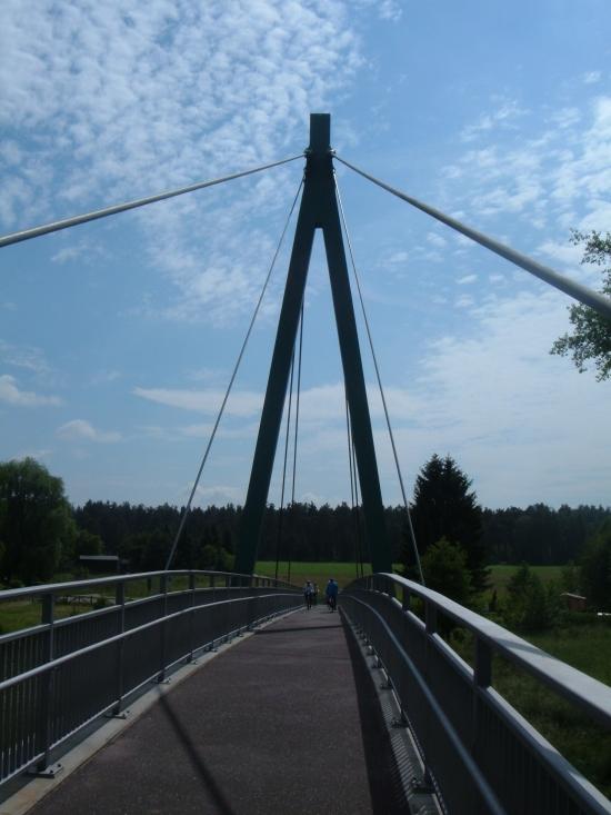 Fußgänger- und fahrradbrücke über die Dahme