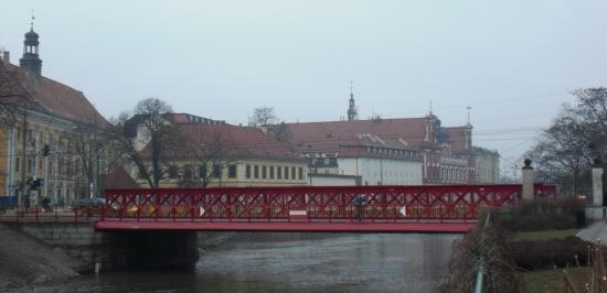 Most Piaskowy vor der alten Bibliothek der Universität