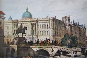 Kurfürstenbrücke mit dem Denkmal des großen Kurfürsten (Ansichtskarte)
