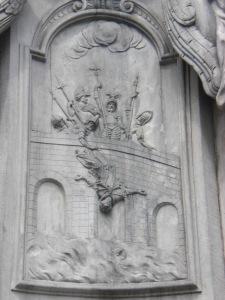 Brückensturz des Jan Nepomuk von der Prager Karlsbrücke