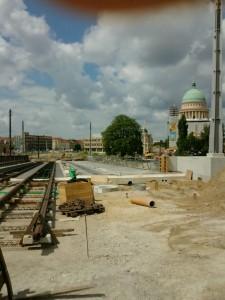 Fahrbahn der neuen Brücke