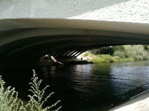 Untersicht der alten und der neuen Langen Brücke