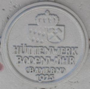 Inschrift des Geländers