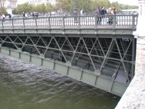 Fachwerkbogen des Pont de Arcole