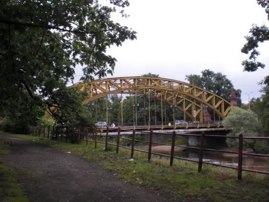 Ansicht der Oderbrücke am Zoo Wroclaw