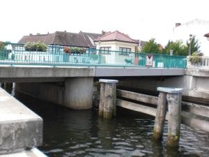 Klappbrücke von der Haffseite aus