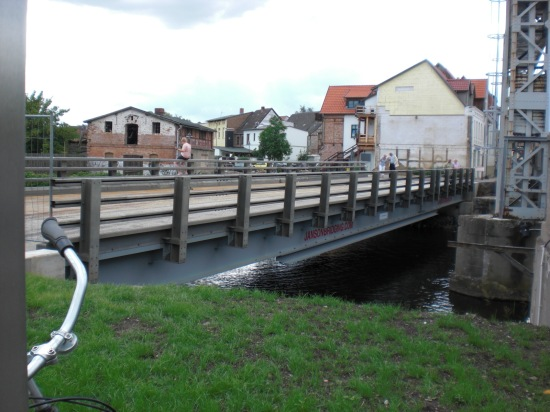 Mietbrücke in Schwaan über die Warnow