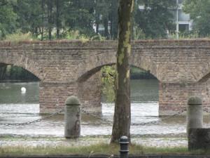 Ansicht der drei Gewölbebögen