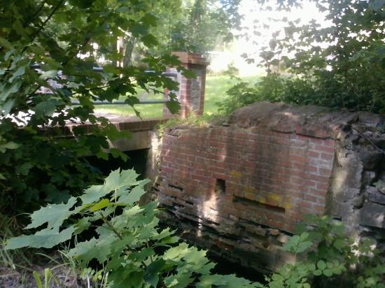 Mühlenbrücke an der Wasserburg in Gerswalde