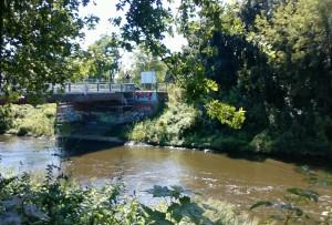Knesebeckbrücke: Teltower Widerlager während der Sanierungsarbeiten 2009