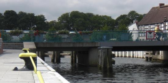 Ückermünde erste Ueckerbrücke