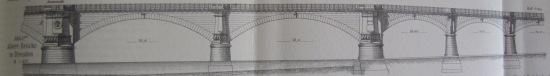 Albertbrücke aus Landsberg: Brückenbau