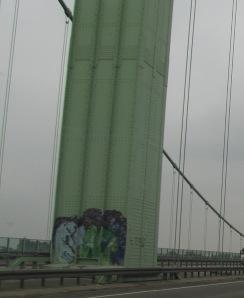 Rodenkirchener Brücke: Mittelpylon-genietet