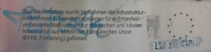 Innschrift am Geländer des Kaiserstegs