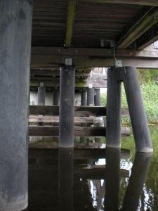 Unterkonstruktion der kleinen Ziehbrücke