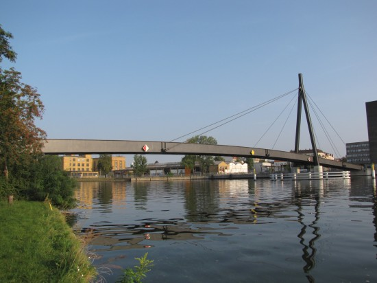 Kaisersteg, Ansicht vom südöstlichen Ufer