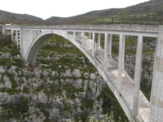 Pont du Chauliere über die Verdunschlucht