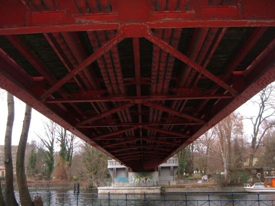 Fachwerkbrückenbalken der Sechserbrücke