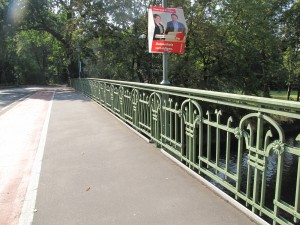 Fahrbahn der neuen Alsenbrücke