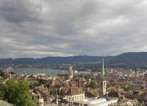 Blick auf Zürich am Zürichsee