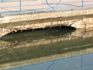 ponton-Brücke in Saline