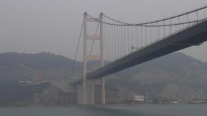 Tsing Yi Seite der Brücke