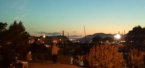 Golden Gate Bridge im letzten Abendlicht