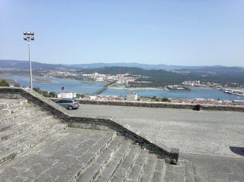 Ausblick von der Kirche Santa Lucia oberhalb von Viana do Castelo